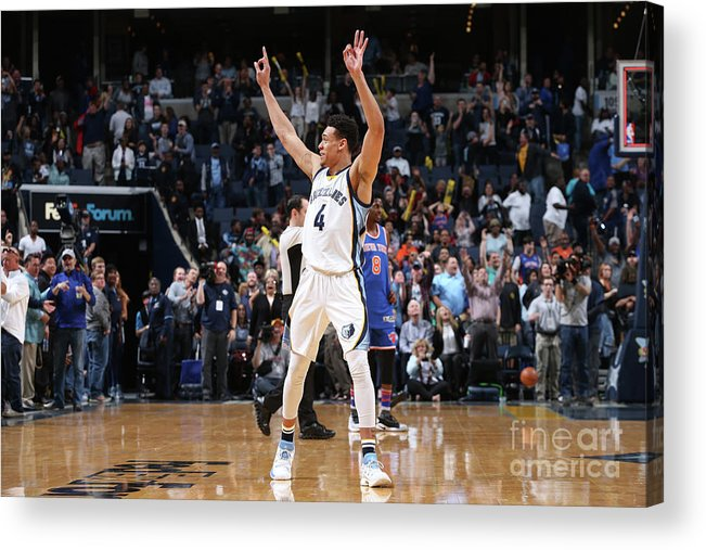 Nba Pro Basketball Acrylic Print featuring the photograph New York Knicks V Memphis Grizzlies by Joe Murphy