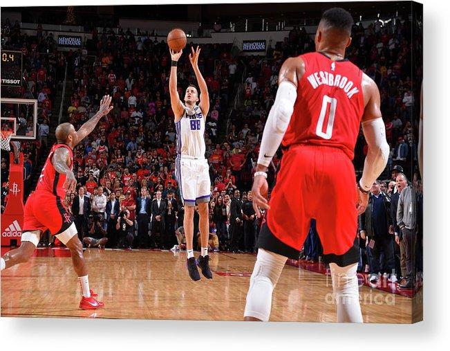 Nba Pro Basketball Acrylic Print featuring the photograph Sacramento Kings V Houston Rockets by Bill Baptist
