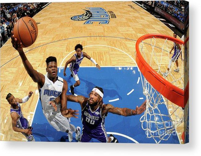 Nba Pro Basketball Acrylic Print featuring the photograph Sacramento Kings V Orlando Magic by Fernando Medina