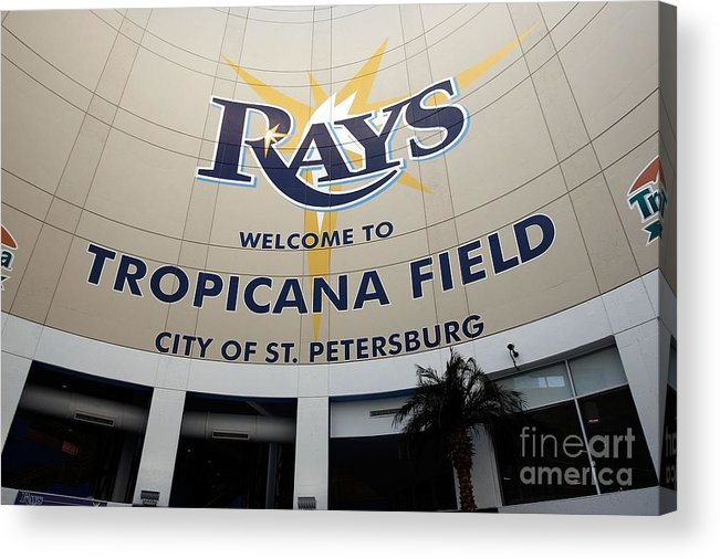American League Baseball Acrylic Print featuring the photograph Seattle Mariners V Tampa Bay Rays by J. Meric