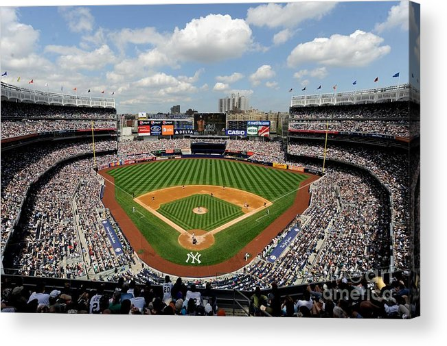 American League Baseball Acrylic Print featuring the photograph Tampa Bay Rays V New York Yankees by Rob Tringali/sportschrome
