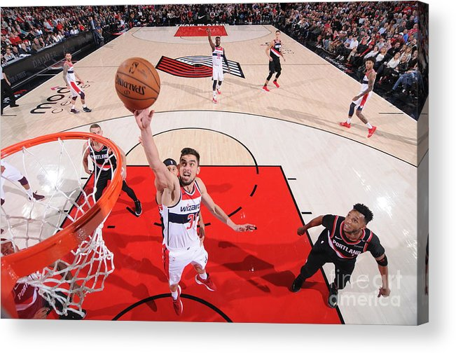 Nba Pro Basketball Acrylic Print featuring the photograph Washington Wizards V Portland Trail by Sam Forencich
