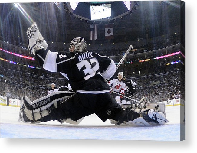 Playoffs Acrylic Print featuring the photograph 2012 Nhl Stanley Cup Final – Game Four by Harry How