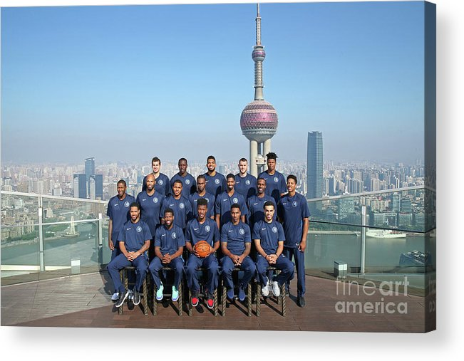 Event Acrylic Print featuring the photograph 2017 Nba Global Games - China by David Sherman