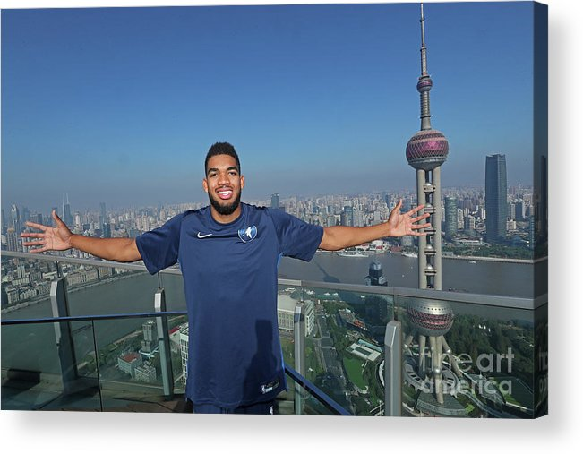Event Acrylic Print featuring the photograph 2017 Nba Global Games - China by Joe Murphy