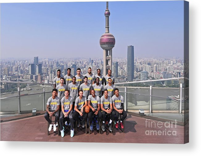 Event Acrylic Print featuring the photograph 2017 Nba Global Games - China by Noah Graham