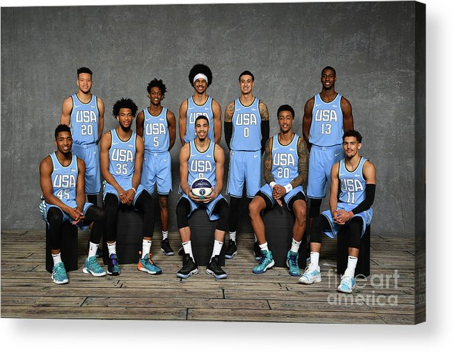 Nba Pro Basketball Acrylic Print featuring the photograph 2019 Mtn Dew Ice Rising Stars by Jesse D. Garrabrant