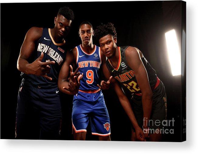 Nba Pro Basketball Acrylic Print featuring the photograph 2019 Nba Rookie Photo Shoot by Brian Babineau