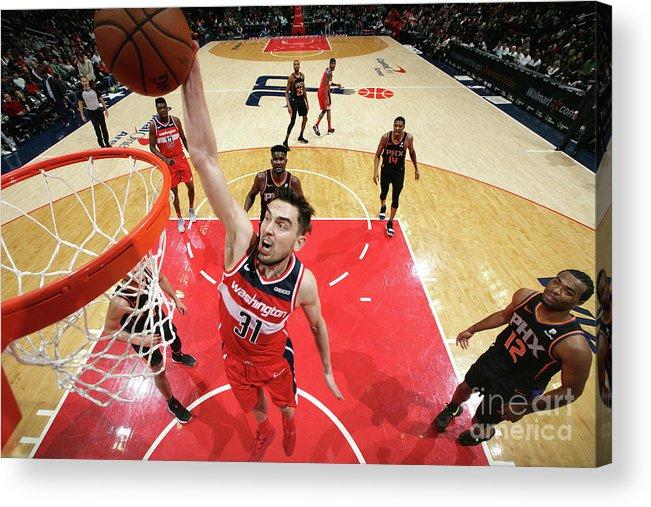 Nba Pro Basketball Acrylic Print featuring the photograph Phoenix Suns V Washington Wizards by Ned Dishman