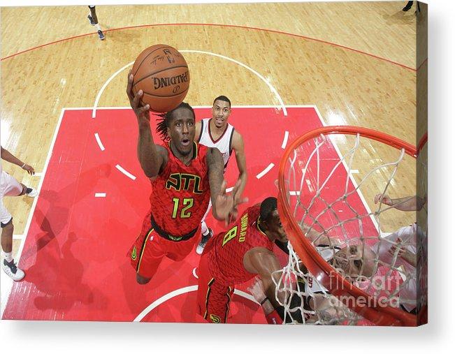 Playoffs Acrylic Print featuring the photograph Atlanta Hawks V Washington Wizards - by Ned Dishman