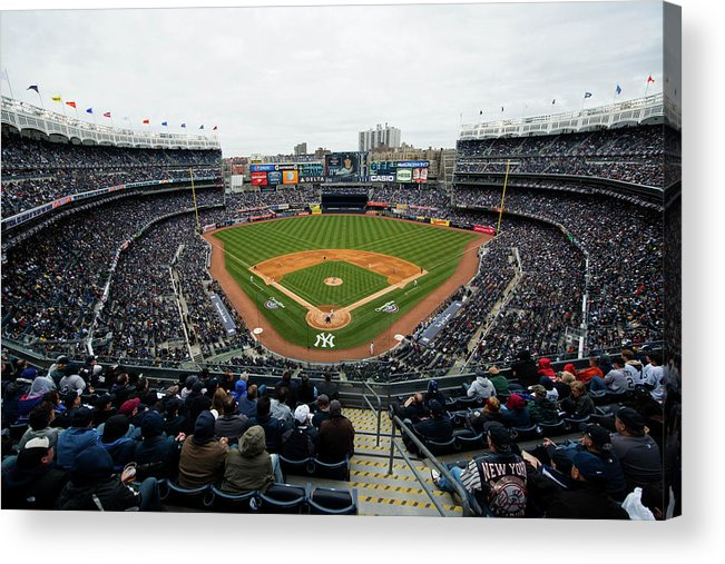 East Acrylic Print featuring the photograph Baltimore Orioles V. New York Yankees by Rob Tringali