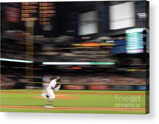 American League Baseball Acrylic Print featuring the photograph San Diego Padres V Arizona Diamondbacks by Christian Petersen