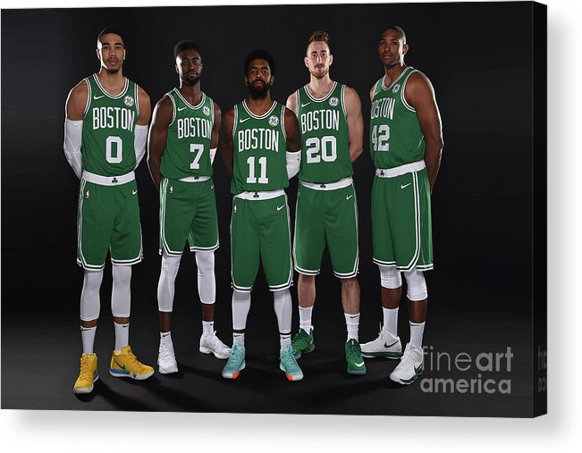 Media Day Acrylic Print featuring the photograph 2018-19 Boston Celtics Media Day by Brian Babineau