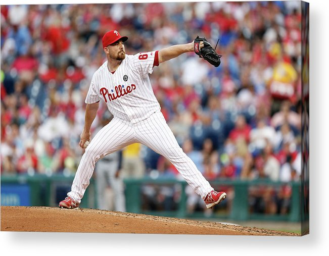 Citizens Bank Park Acrylic Print featuring the photograph Atlanta Braves V Philadelphia Phillies by Brian Garfinkel