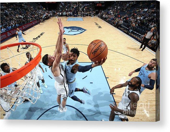 Nba Pro Basketball Acrylic Print featuring the photograph Brooklyn Nets V Memphis Grizzlies by Joe Murphy