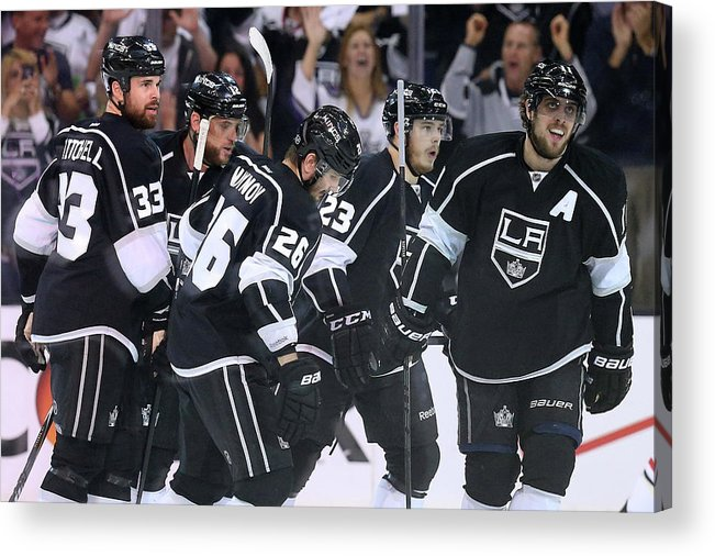 Playoffs Acrylic Print featuring the photograph Chicago Blackhawks V Los Angeles Kings by Jeff Gross