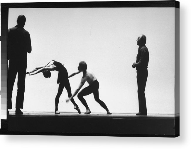 Timeincown Acrylic Print featuring the photograph George Balanchine by Gjon Mili