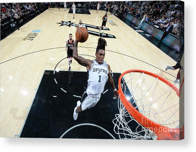 Nba Pro Basketball Acrylic Print featuring the photograph Houston Rockets V San Antonio Spurs by Logan Riely