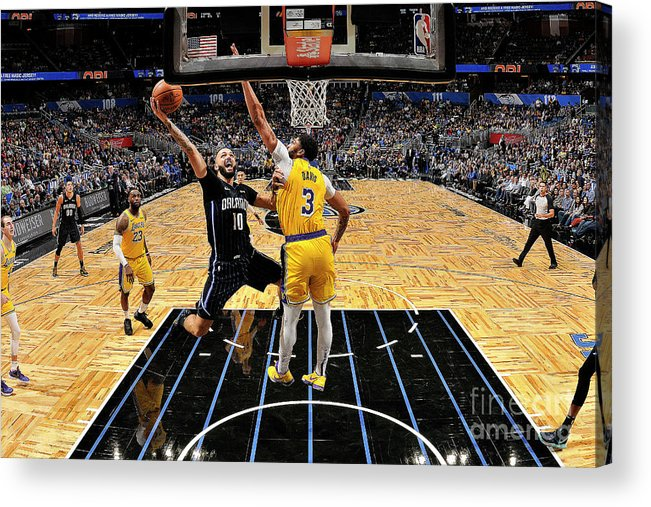 Nba Pro Basketball Acrylic Print featuring the photograph Los Angeles Lakers V Orlando Magic by Fernando Medina