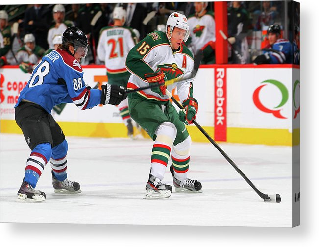National Hockey League Acrylic Print featuring the photograph Minnesota Wild V Colorado Avalanche by Doug Pensinger