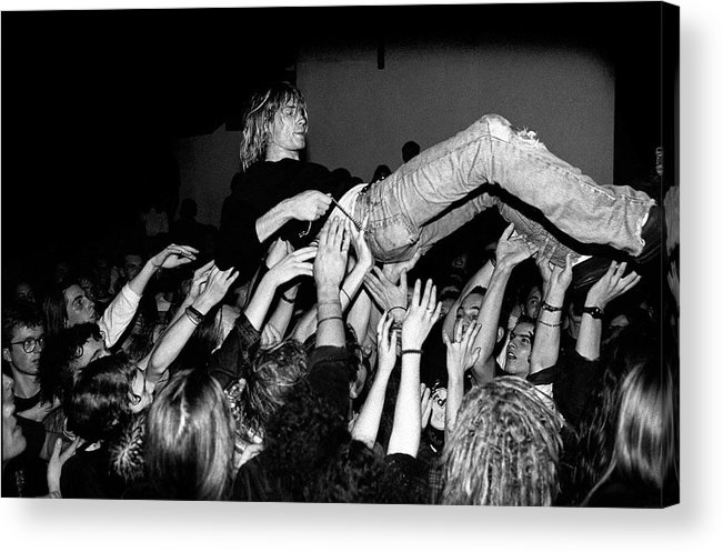 Singer Acrylic Print featuring the photograph Nirvana Perform Live In Frankfurt by Paul Bergen