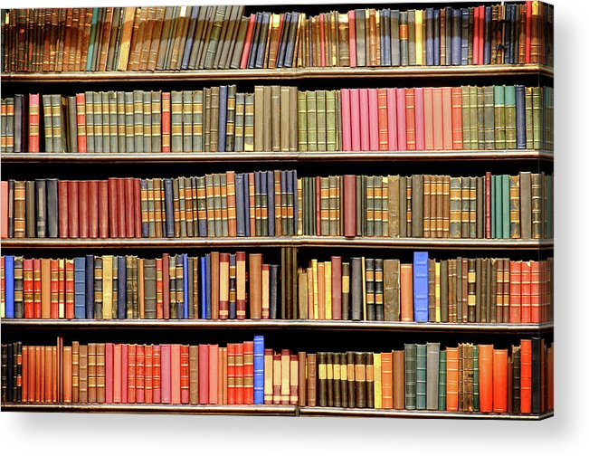 Dust Acrylic Print featuring the photograph Old Books In A Library by Luoman