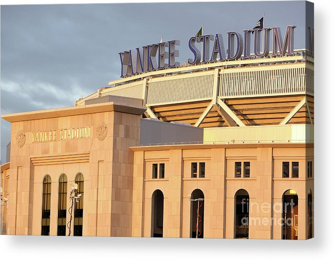 Game Two Acrylic Print featuring the photograph Philadelphia Phillies V New York by Jed Jacobsohn