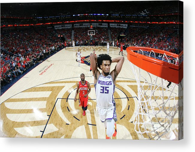 Smoothie King Center Acrylic Print featuring the photograph Sacramento Kings V New Orleans Pelicans by Layne Murdoch Jr.