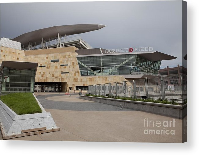 American League Baseball Acrylic Print featuring the photograph Target Field Previews by Wayne Kryduba
