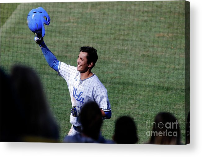 Following Acrylic Print featuring the photograph Washington V Ucla by Katharine Lotze