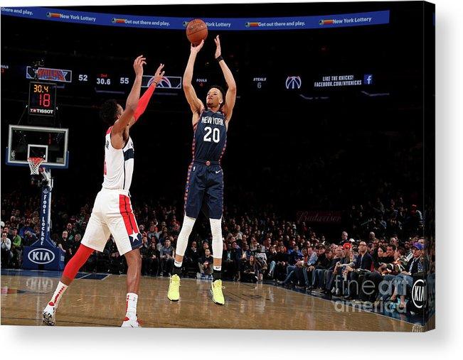 Nba Pro Basketball Acrylic Print featuring the photograph Washington Wizards V New York Knicks by Nathaniel S. Butler