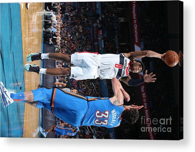 Nba Pro Basketball Acrylic Print featuring the photograph Washington Wizards V Oklahoma City by Zach Beeker