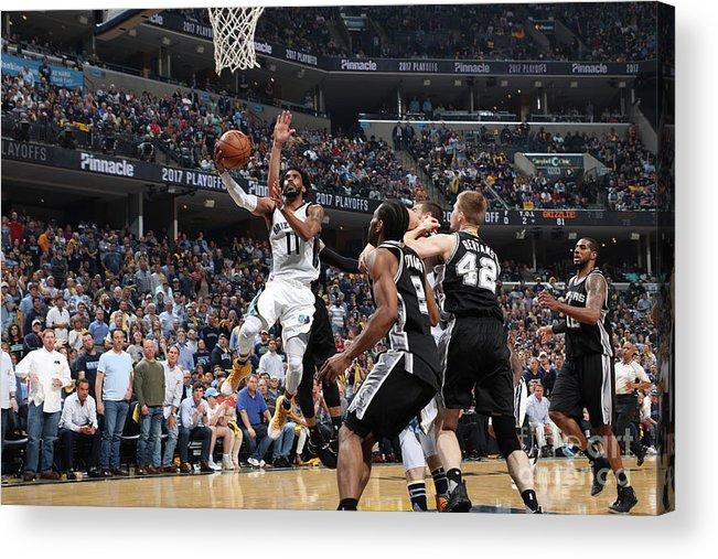 Playoffs Acrylic Print featuring the photograph San Antonio Spurs V Memphis Grizzlies - by Joe Murphy