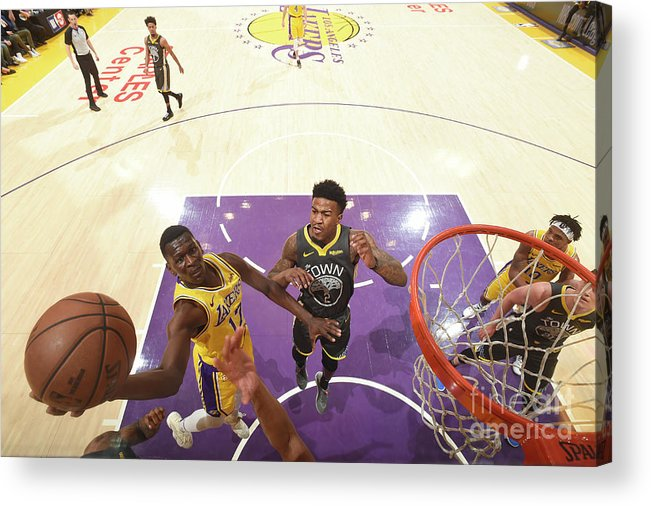 Nba Pro Basketball Acrylic Print featuring the photograph Golden State Warriors V Los Angeles by Andrew D. Bernstein
