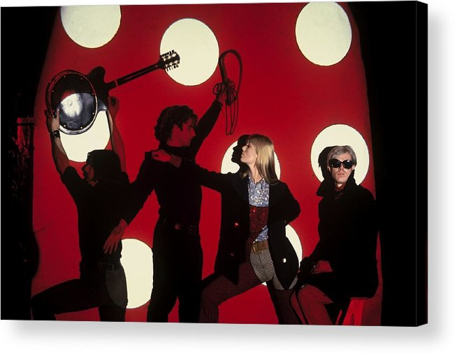 Singer Acrylic Print featuring the photograph Andy Warhol In New York, United States by Herve Gloaguen