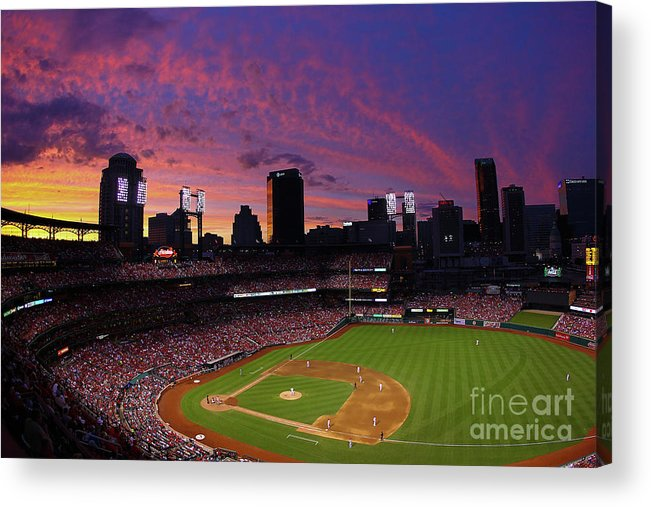 St. Louis Acrylic Print featuring the photograph Arizona Diamondbacks V St. Louis by Dilip Vishwanat