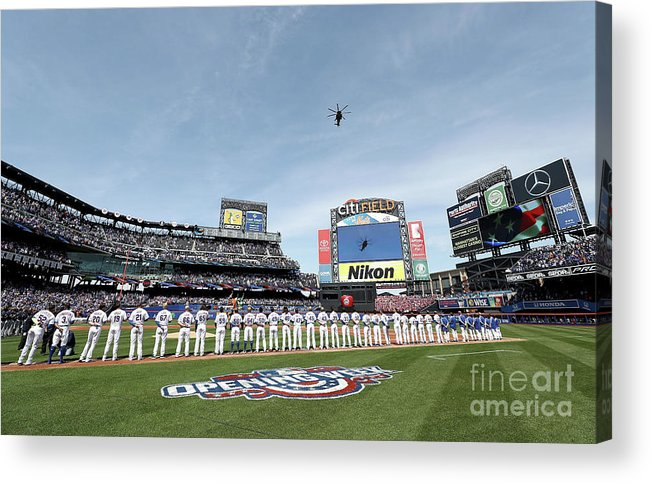 American League Baseball Acrylic Print featuring the photograph Atlanta Braves V New York Mets by Elsa