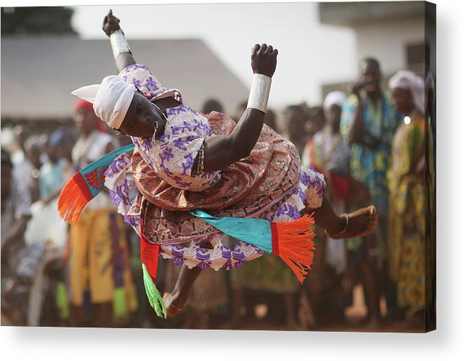 Performance Acrylic Print featuring the photograph Benins Mysterious Voodoo Religion Is by Dan Kitwood