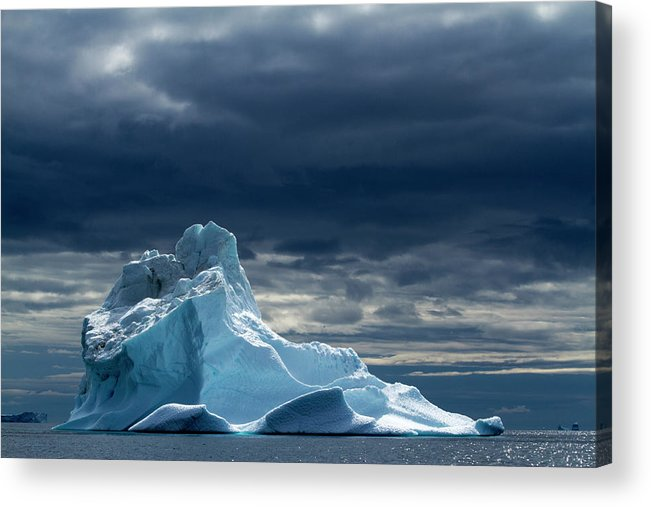 Tranquility Acrylic Print featuring the photograph Icebergs, Disko Bay, Greenland by Paul Souders