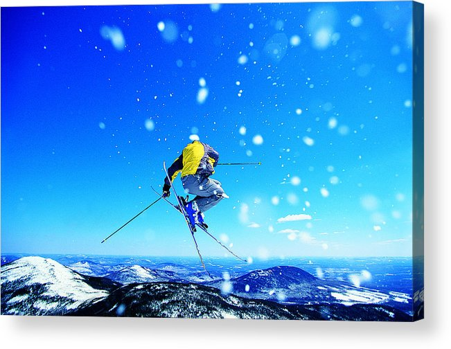 Skiing Acrylic Print featuring the photograph Man Skiing by Digital Vision.