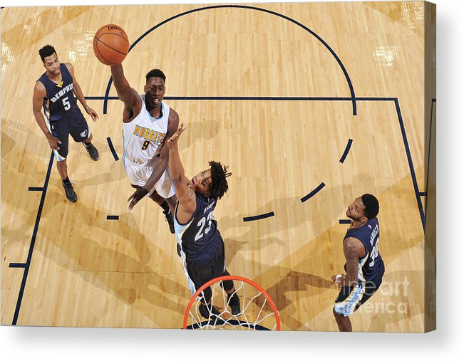 Nba Pro Basketball Acrylic Print featuring the photograph Memphis Grizzlies V Denver Nuggets by Garrett Ellwood