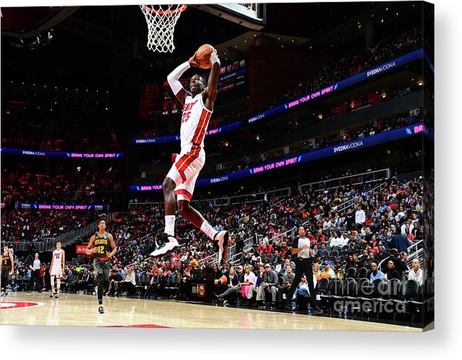 Atlanta Acrylic Print featuring the photograph Miami Heat V Atlanta Hawks by Scott Cunningham