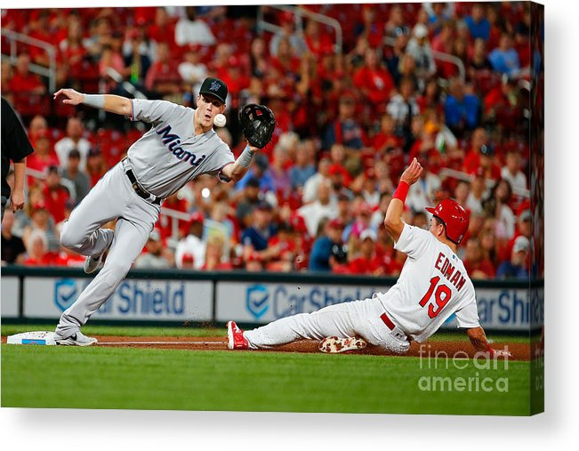 St. Louis Cardinals Acrylic Print featuring the photograph Miami Marlins V St Louis Cardinals by Dilip Vishwanat