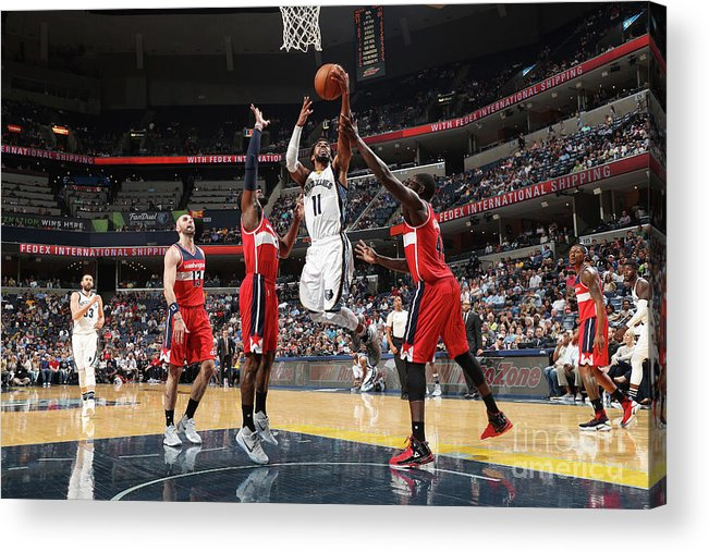 Nba Pro Basketball Acrylic Print featuring the photograph Washington Wizards V Memphis Grizzlies by Joe Murphy