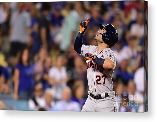 Game Two Acrylic Print featuring the photograph World Series - Houston Astros V Los by Harry How
