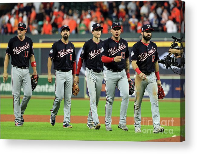 American League Baseball Acrylic Print featuring the photograph World Series - Washington Nationals V by Mike Ehrmann