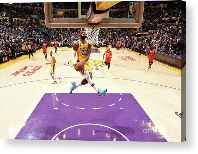 Nba Pro Basketball Acrylic Print featuring the photograph Lebron James by Andrew D. Bernstein