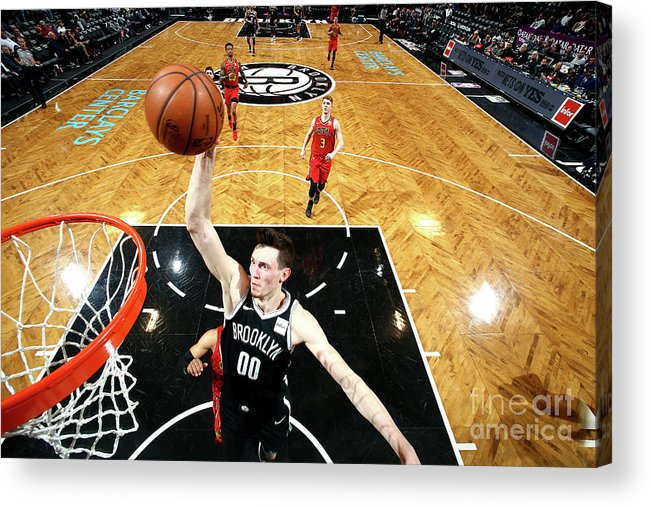 Nba Pro Basketball Acrylic Print featuring the photograph Atlanta Hawks V Brooklyn Nets by Nathaniel S. Butler