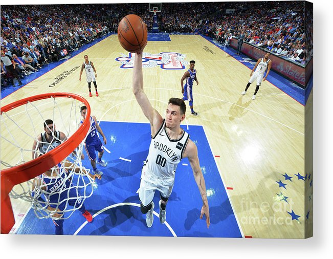 Playoffs Acrylic Print featuring the photograph Brooklyn Nets V Philadelphia 76ers - by Jesse D. Garrabrant