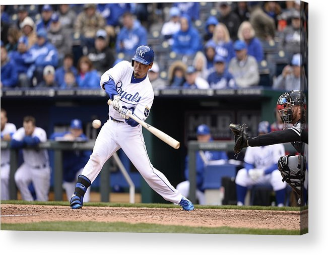 American League Baseball Acrylic Print featuring the photograph Chicago White Sox V. Kansas City Royals by John Williamson